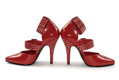 Red Stilettos Royalty Free Stock Photos