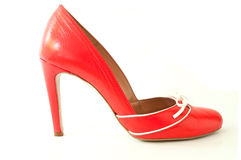 Red stilettos shoes on white background Stock Image