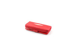 Red stingray leather wallet Stock Photo
