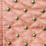 Red stitched leather texture Royalty Free Stock Image