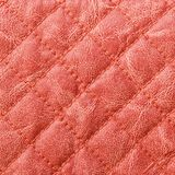 Red stitched leather texture Stock Photos