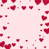 Red stitched paper hearts. Stock Image