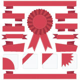 Red stitched ribbons Royalty Free Stock Photo