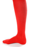 Red stocking over white Stock Photo