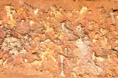 Red stone boulder Royalty Free Stock Images