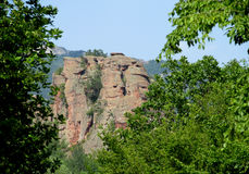 Red stone cliff and rock in Beogradchik, Bulgaria Stock Photo