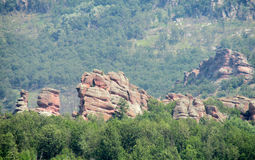 Red stone cliff and rock in Beogradchik, Bulgaria Stock Images