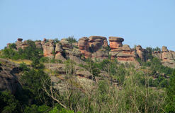 Red stone cliff and rock in Beogradchik, Bulgaria Royalty Free Stock Image