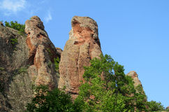 Red stone cliff and rock in Beogradchik, Bulgaria Royalty Free Stock Photo