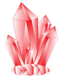 Red stone crystal Royalty Free Stock Photography