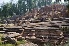 Red stone forest geology park in hunan province, China Royalty Free Stock Photo