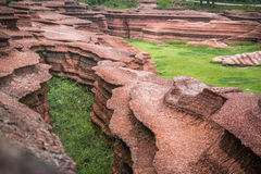 Red stone forest. In Hunan province Royalty Free Stock Image