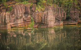 Red stone forest. In Hunan province Stock Photography