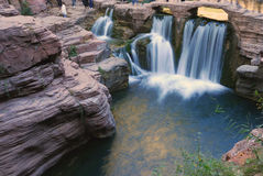 Red Stone Gorge. In YunTai Mountain, HeNan, China royalty free stock photo