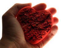 Red stone heart Stock Image