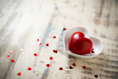 A red stone heart Stock Photography