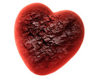 Red stone heart Royalty Free Stock Image