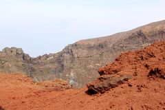 Red stone of mount Vesuvius, Naples, Italy Stock Image