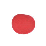 Red Stone. A red painted pebble stone isolated on a white background royalty free stock image