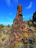 Red Stone Pillar. Rock formation at Jasper Rocks in the Crooked River National Grassland - near Culver, OR royalty free stock images