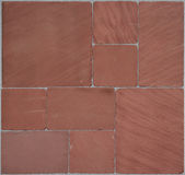 Red Stone's floor. Seamless texture of red stones Royalty Free Stock Photos