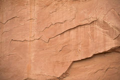 Red Stone. Red slate seen in the Colorado foothills Royalty Free Stock Photos