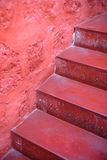 Red stone steps. Stock Photography