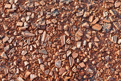 Red stone texture. Red small stone texture background Stock Photos