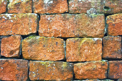 Red Stone Wall Stock Image
