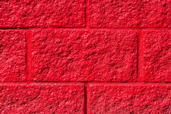 Red stone wall close-up Royalty Free Stock Photography