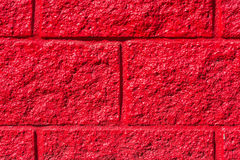 Red stone wall close-up Royalty Free Stock Image