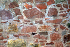 Red stone wall Stock Images