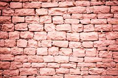Red stone wall Royalty Free Stock Photo