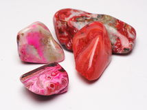 Red stones. Picture of a few red polished stones Stock Photography
