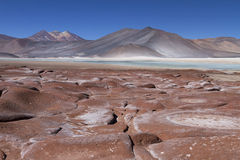 Red stones in the Andes Stock Images