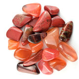 Red stones isolated Royalty Free Stock Images