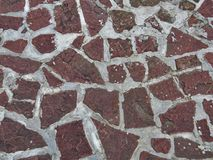 Red stones texture mosaic. Pattern Stock Image