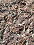 Red stones wall Stock Photography