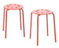 Red stool Stock Image