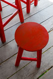 Red stool Royalty Free Stock Image