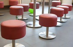 Red stools Stock Photos