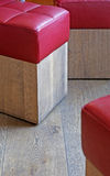 Red stools stock photography