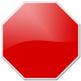 Red stop Royalty Free Stock Photo
