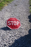Red stop Stock Photography