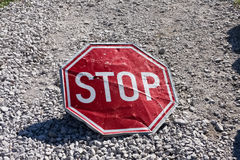 Red stop Royalty Free Stock Image