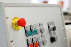 Red stop button Royalty Free Stock Images
