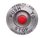 Red STOP button Royalty Free Stock Photos
