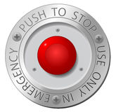 Red stop button. Vector sign Royalty Free Stock Photography