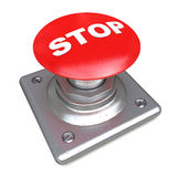 Red STOP button Isolated High resolution. 3D image Stock Photo