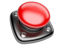 Red STOP button. Isolated on white background 3d image Stock Photo
